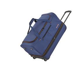 travelite Basics, 38/46 cm, Reisetasche, 2 Rollen, marine, 2 Rollen, erweiterbar