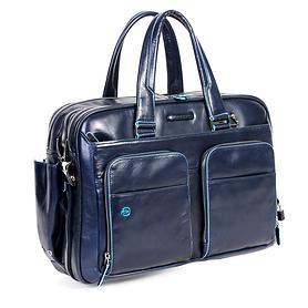 Piquadro Blue Square, 41 cm, Laptoptasche, erweiterbar, blau