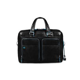 Piquadro Blue Square, 39 cm, Laptoptasche,schwarz