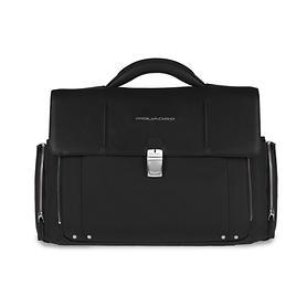 Piquadro Link, Laptoptasche, 46 cm, schwarz