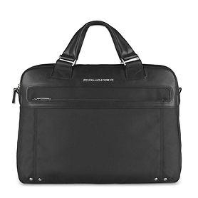 Piquadro Link, Doppelgriff-Laptoptasche, 40 cm, schwarz