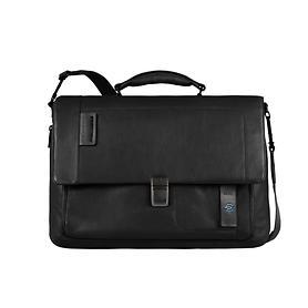 Piquadro Pulse, Laptoptasche mit Überschlag, 41,5 cm, schwarz