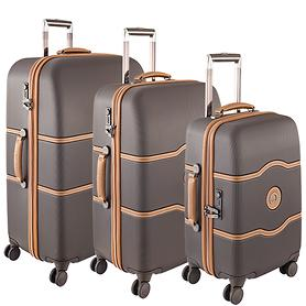 Delsey Chatelet Hard+ Trolleys & Beautycase schokolade 4 Rollen