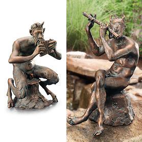 Skulpturen Faun und Pan