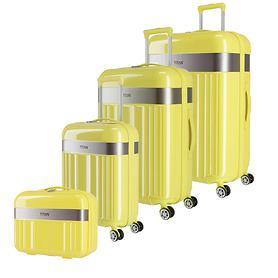 TITAN Spotlight Flash Trolleys, 4 Rollen & Beautycase, lemon crush