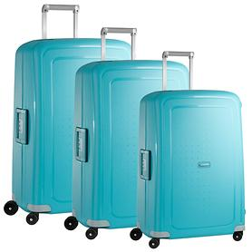 Samsonite S'Cure Trolleys aqua blue 4 Rollen