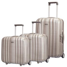 Samsonite Lite Cube Trolley & Rolling Tote champagne 2 Rollen