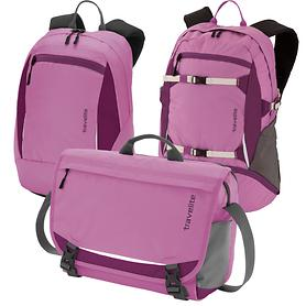 travelite Basics Messenger Tasche u. Daypack fuchsia