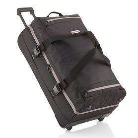 travelite Basics, 78 cm, Doppeldecker Trolley Reisetasche, schwarz