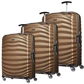 Samsonite Lite-Shock Trolleys sand 4 Rollen