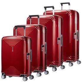 Samsonite Neopulse Trolleys metallic red 4 Rollen