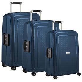 Samsonite S'Cure DLX Trolleys metallic blue 4 R.