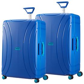 American Tourister Lock'N'Roll Trolleys skydiver blue 4 Rollen