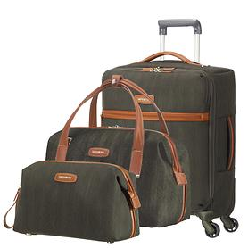 Samsonite Lite DLX Trolley, Beautycase & Toilet Kit dark olive