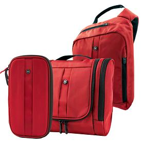 Victorinox Lifestyle Accessories 4.0 Rucksack, Organizer & Toilet Kit Rot