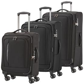 Travelite CrossLITE Trolleys 4 Rollen schwarz