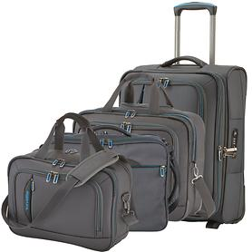 Travelite CrossLITE Trolley Bordtasche & Businesswheeler Anthrazit