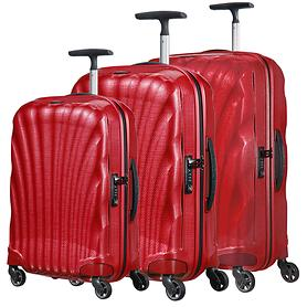 Samsonite Cosmolite Trolleys 4 Rollen & Beautycase, rot