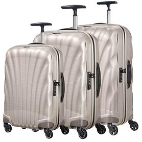 Samsonite Cosmolite Trolleys 4 Rollen & Beautycase, pearl