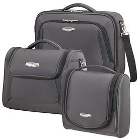 Samsonite X'Blade 3.0 Toilet Kit, Laptop shoulder bag & Beautycase, grey/black