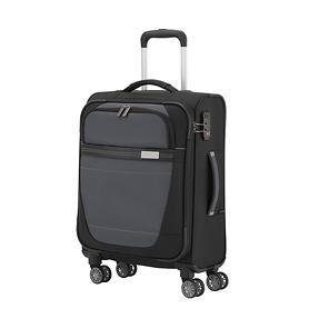travelite Meteor, 55 cm, Trolley, schwarz, 4 Rollen, Kabinengepäck
