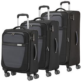 travelite Meteor Trolleys, schwarz, 4 Rollen