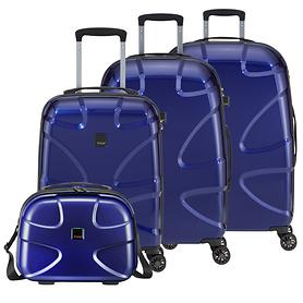 TITAN X2 Flash 2.0 Trolleys, 4 Rollen & Beauty Case, midnight blue