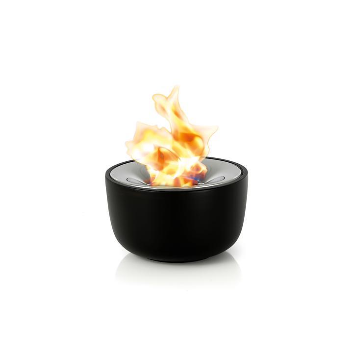 """Gelfeuerstelle """"Fuoco"""" aus Keramik, schwarz"""