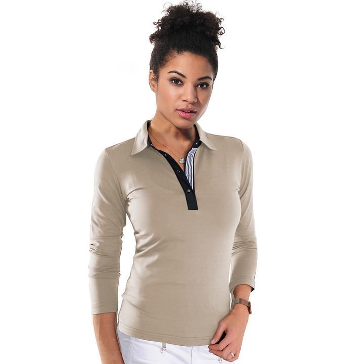 Langarm-Shirt Meryl light taupe Gr. 40