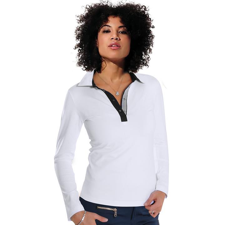 Langarm-Shirt Meryl weiß Gr. 42