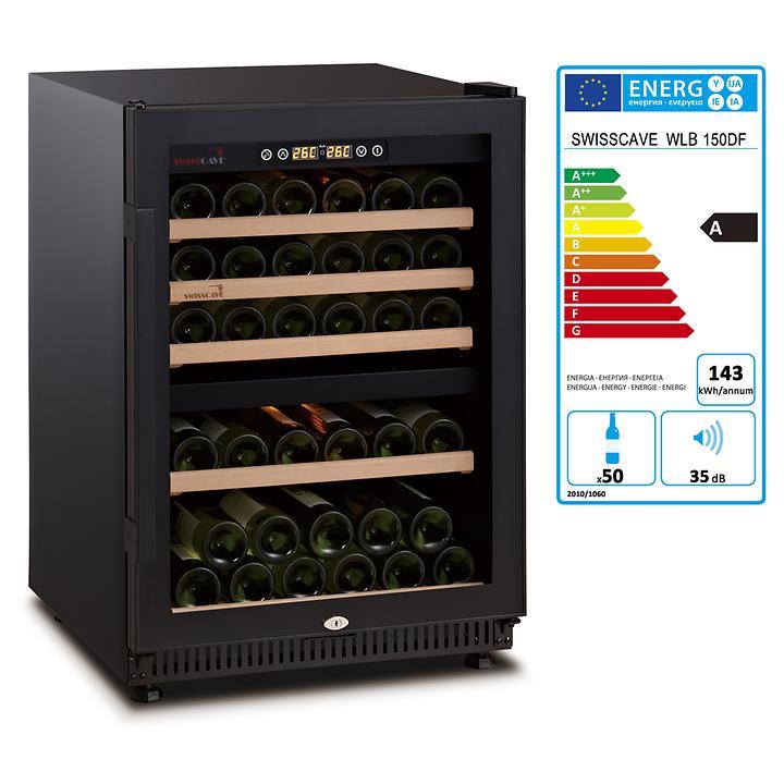 Zweizonen-Weinkühlschrank WLB 150DF