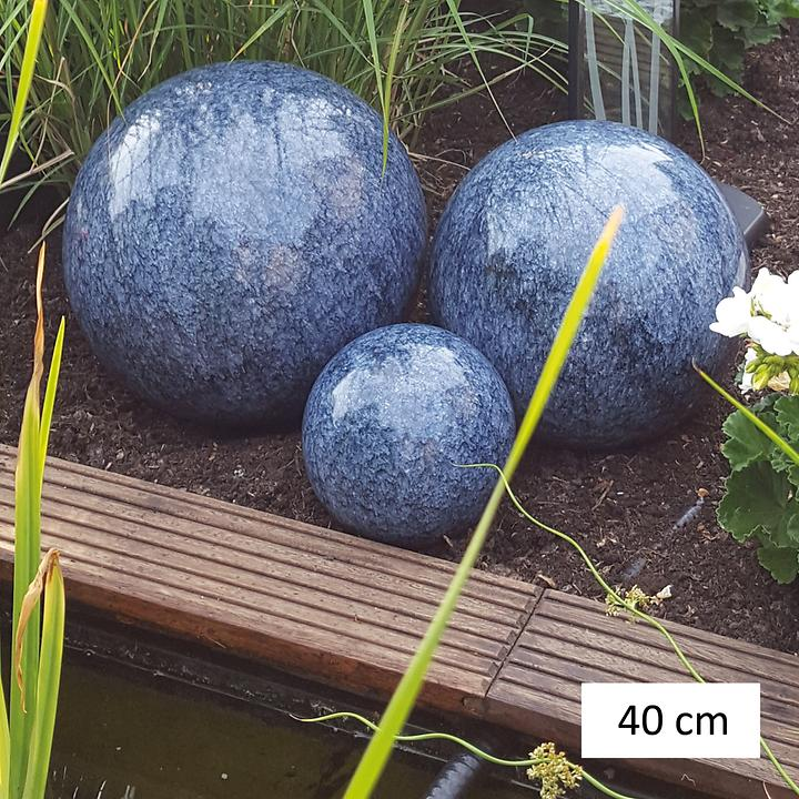 Dekorationskugeln Marmor blau, D 40 cm