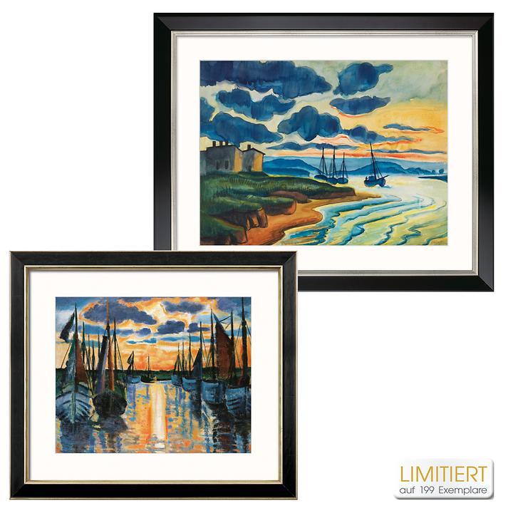 Bild Sonnenuntergang Leba Hafen