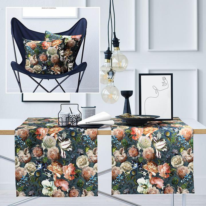 Textil-Serie Herbstrosen
