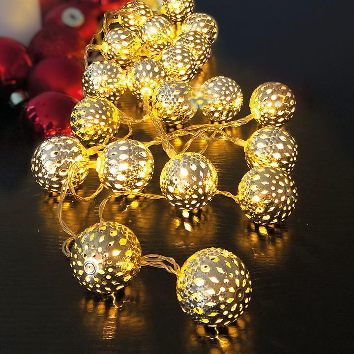 LED-Metallkugel-Lichterkette