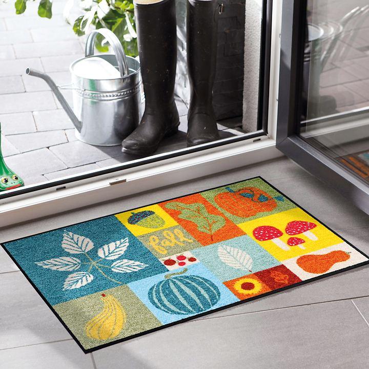 Waschbare Fußmatte , Colorful Fall