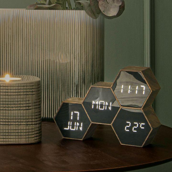 Design-Uhr mit Weckfunktion Six in the mix