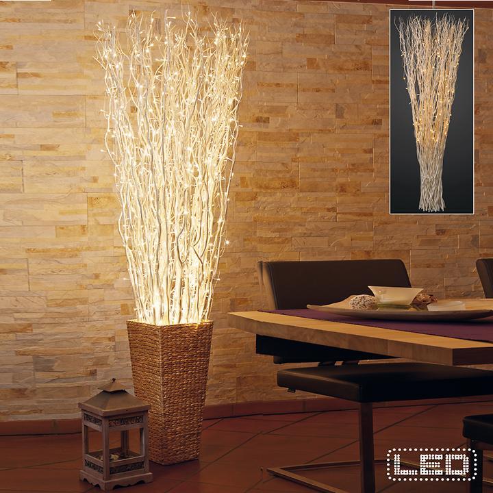 LED-Weidenzweigbündel & Pflanzgefäß Liva