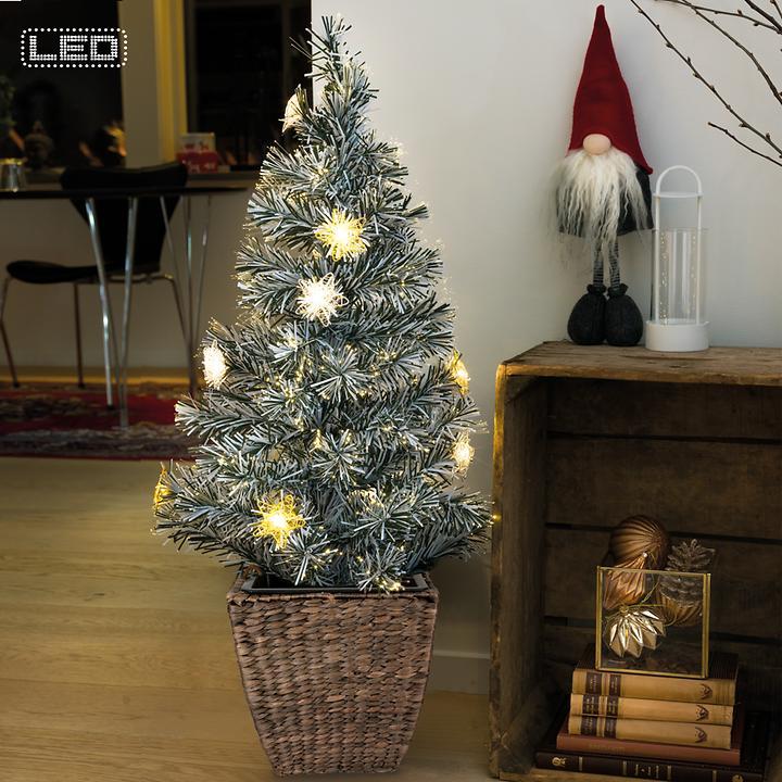 LED-Fiberoptik-Bäume & Topf Vivano