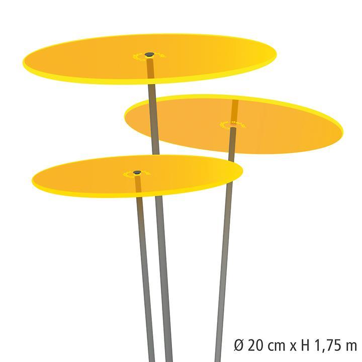 Sonnenfänger Tres gelb, hoch, 3er-Set