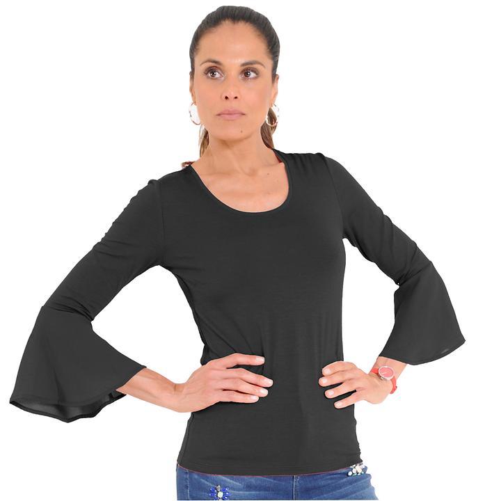 Shirt Carmen schwarz, Gr. 44