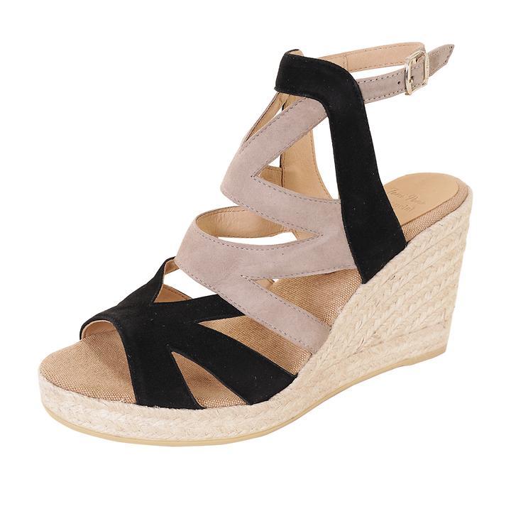 Sandalette Mirna Gr. 38 schwarz-beige
