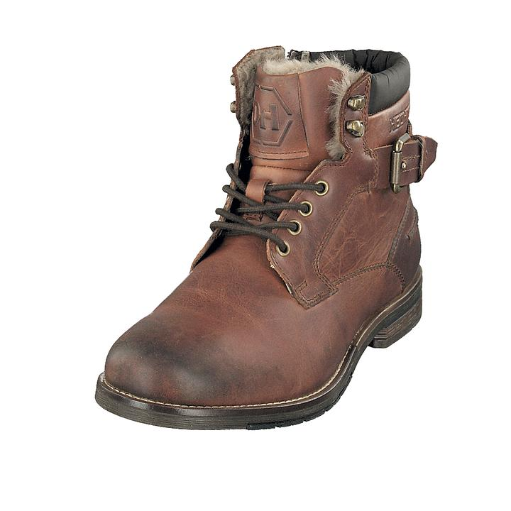 Schnür-Boots Leonard braun Gr. 42