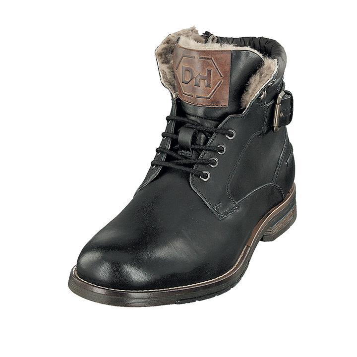 Schnür-Boots Leonard schwarz Gr. 45
