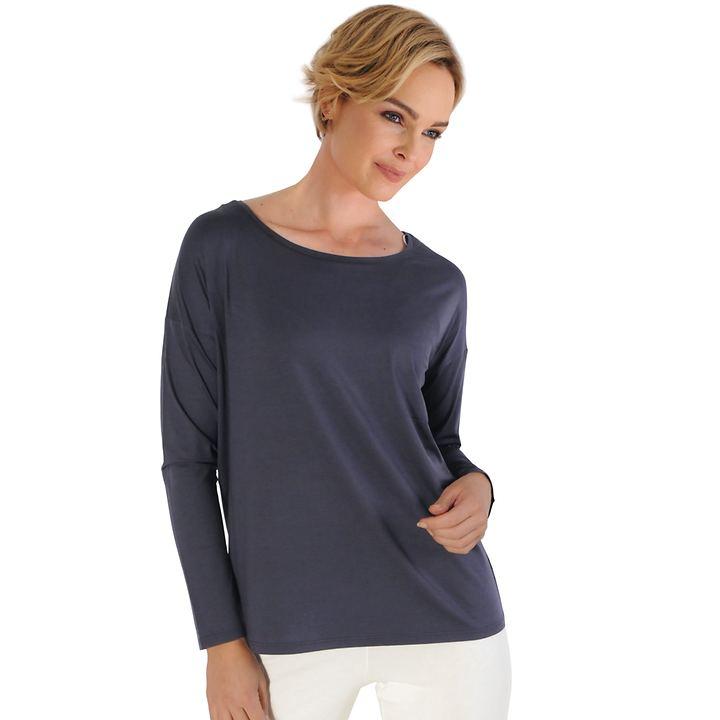Langarm-Shirt Trend grau Gr. 40/42