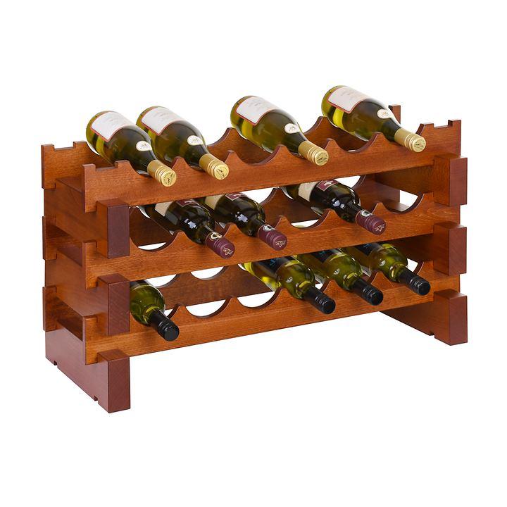 Weinregal-Module CASANOVA-6, Cherry, 3 Reihen á 6 Fl.