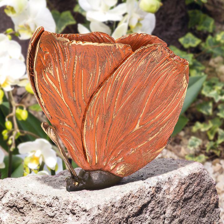 Skulptur Schmetterling rot