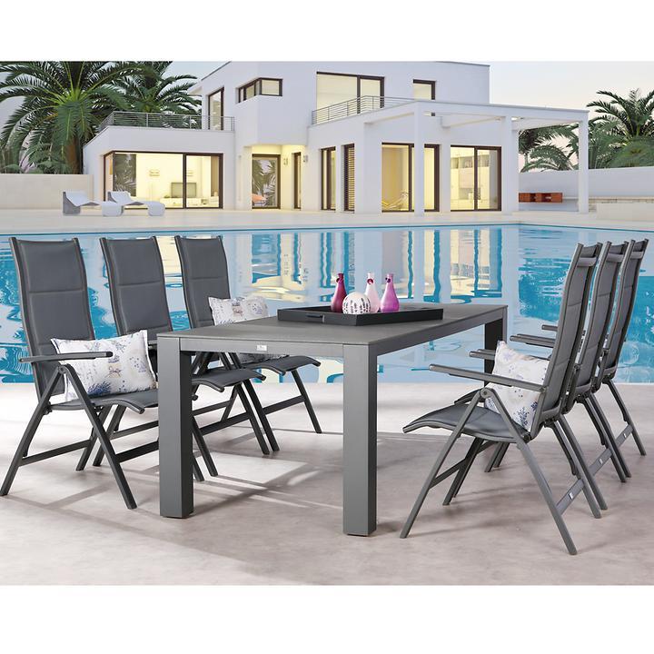 Aluminium-Gartenmöbel mit Ergotex-Bespannung
