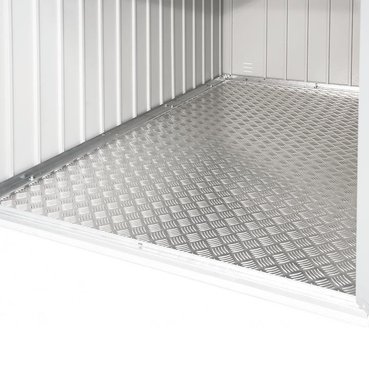Alu - Bodenplatte für Mini-Garage | Baumarkt > Garagen und Carports > Garagen | Silber | Biohort