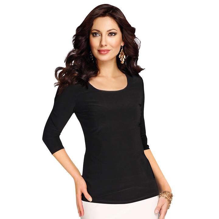 Langarm-Shirt Simone schwarz Gr. 48